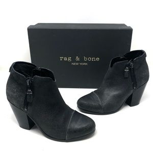 Rag & Bone Crackle Leather Margot Bootie Boots